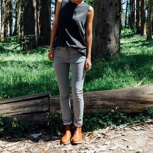 Doublewood Skinny Grey Raw Selvedge Denim Jean